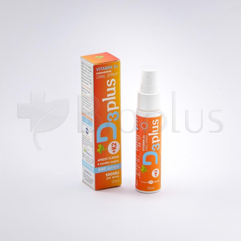 D3plus υπογλώσσιο spray βιτανίνης D3 με K2